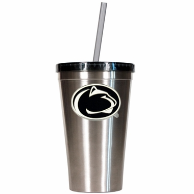 Penn State 16oz Stainless Steel Insulated Tumbler with Straw