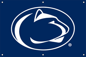 Penn State 2 x 3 Horizontal Applique Fan Banner