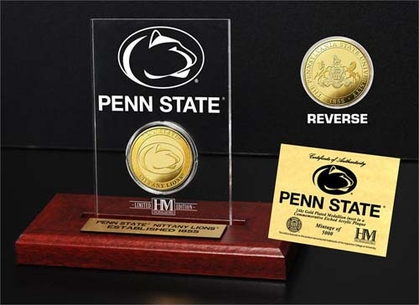 Penn State Nittany Lions Penn State University 24KT Gold Coin Etched Acrylic
