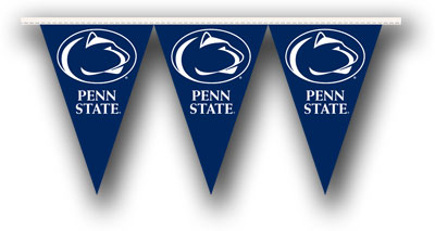 Penn State 25 Foot String of Party Pennants (P)