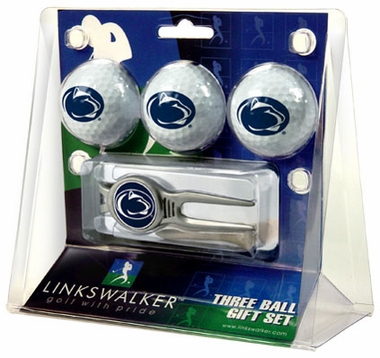 Penn State 3 Ball Gift Pack With Kool Tool