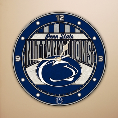 Penn State Art Glass Clock