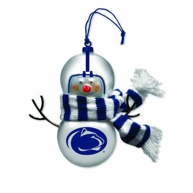 Penn State Blown Glass Snowman Ornament (Set of 2)
