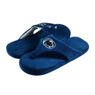 Penn State Comfy Flop Sandal Slippers - Large