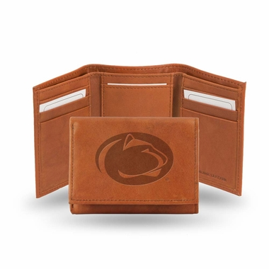 Penn State Embossed Leather Trifold Wallet