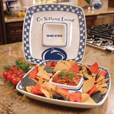 Penn State Gameday Ceramic Chip and Dip Platter