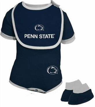 Penn State Infant 3 Piece Creeper Set
