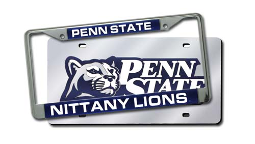 Penn State Laser Cut License Plate And Frame Auto Kit