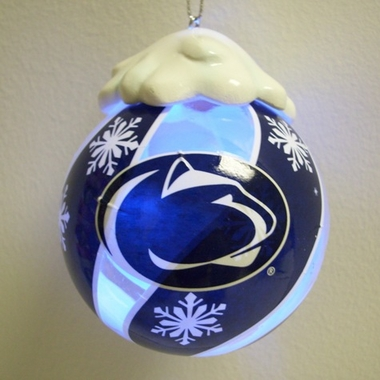Penn State Light Up Glass Ball Ornament