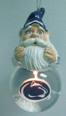 Penn State Light Up Gnome Snow Globe Ornament