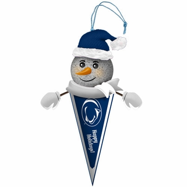 Penn State Light Up Snowman Pennant Ornament (Set of 2)