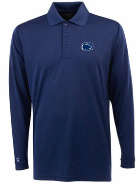 Penn State Mens Long Sleeve Polo Shirt (Team Color: Navy)