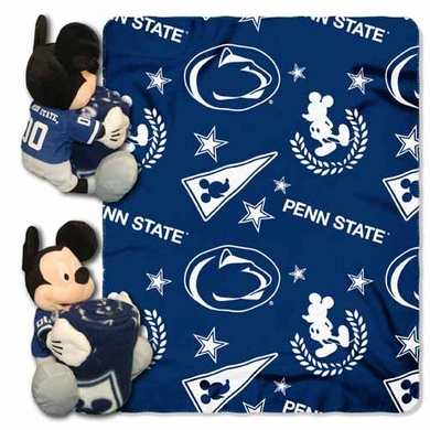 Penn State Mickey Mouse Pillow / Throw Combo