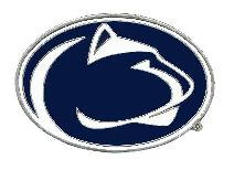 Penn State Nittany Lions Hitch Cover Class 3