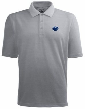 Penn State Mens Pique Xtra Lite Polo Shirt (Color: Gray)