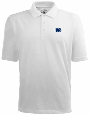 Penn State Mens Pique Xtra Lite Polo Shirt (Color: White)