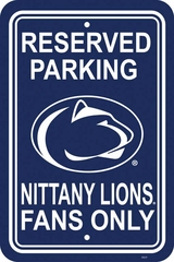 Penn State Plastic Parking Sign (P)