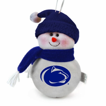 Penn State Plush Snowman Ornament (Set of 3)