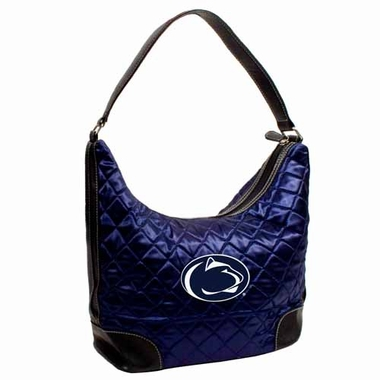 Penn State Quilted Hobo Purse