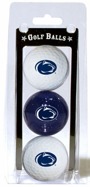 Penn State Set of 3 Multicolor Golf Balls