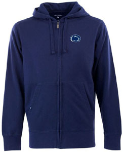 Penn State Mens Signature Full Zip Hooded Sweatshirt (Color: Navy) - Medium