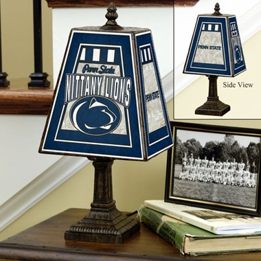 Penn State Small Art Glass Lamp
