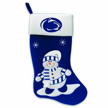 Penn State Snowman Felt Stocking