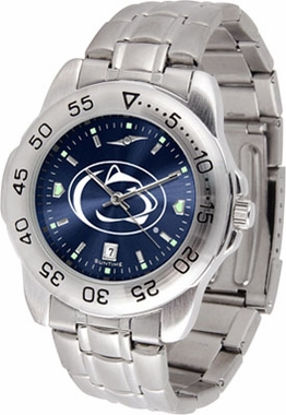 Penn State Sport Anonized Men's Steel Band Watch