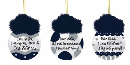 Penn State Team Sayings Ornament Set