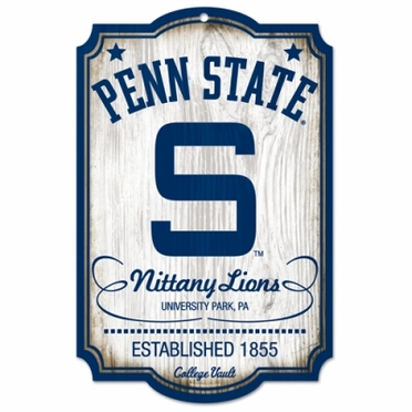 Penn State Throwback Wood Sign
