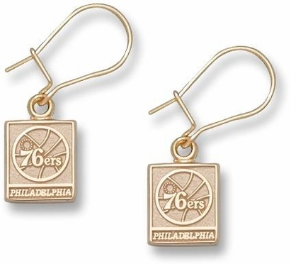 Philadelphia 76ers 10K Gold Post or Dangle Earrings