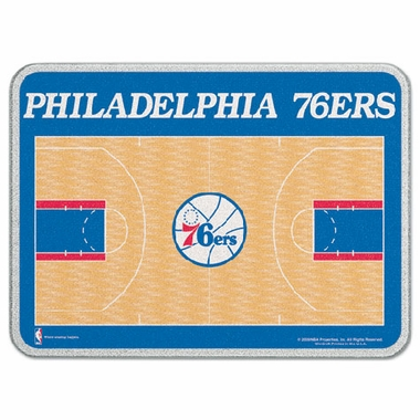 Philadelphia 76ers 11 x 15 Glass Cutting Board