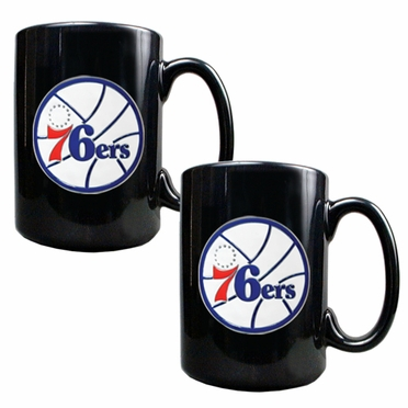 Philadelphia 76ers 2 Piece Coffee Mug Set