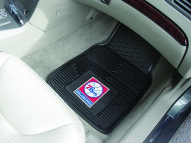 Philadelphia 76ers 2 Piece Heavy Duty Vinyl Car Mats