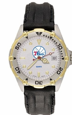 Philadelphia 76ers All Star Mens (Leather Band) Watch