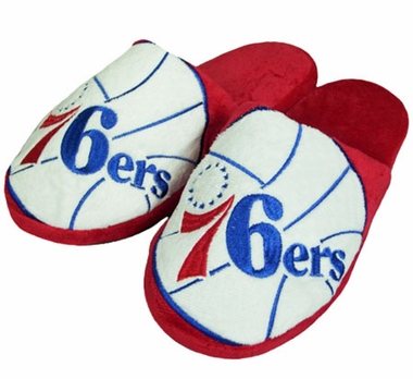 Philadelphia 76ers Big Logo Hard Sole Slippers