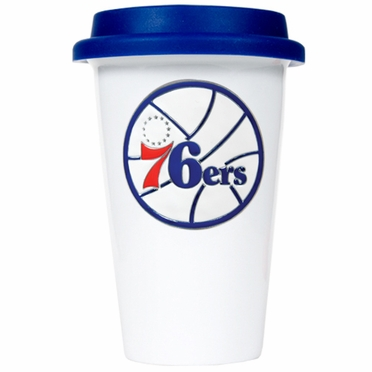 Philadelphia 76ers Ceramic Travel Cup (Team Color Lid)