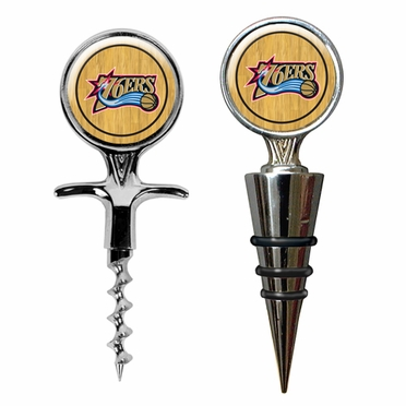 Philadelphia 76ers Corkscrew and Stopper Gift Set