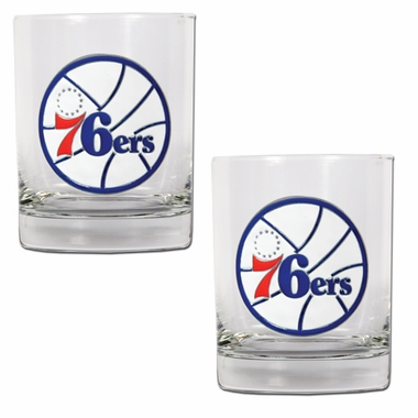 Philadelphia 76ers Double Rocks Set