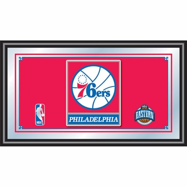Philadelphia 76ers Framed Logo Bar Mirror