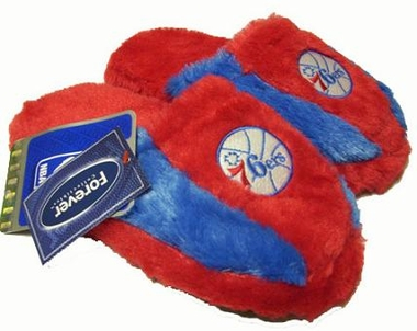 Philadelphia 76ers Fuzzy Slippers - Large