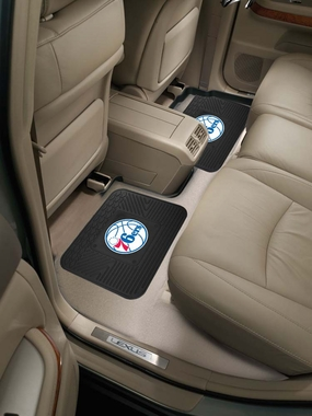 Philadelphia 76ers SET OF 2 Heavy Duty Vinyl Rear Car Mats
