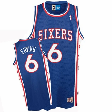Philadelphia 76ers Julius Erving Adidas Team Color Throwback Replica Premiere Jersey