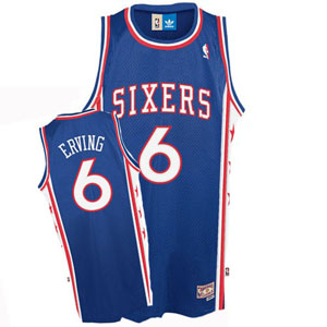 Philadelphia 76ers Julius Erving Adidas Team Color Throwback Replica Premiere Jersey - Large