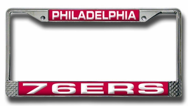 Philadelphia 76ers Laser Etched Chrome License Plate Frame