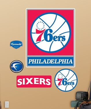Philadelphia 76ers Logo Fathead Wall Graphic