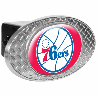 Philadelphia 76ers Metal Diamond Plate Trailer Hitch Cover