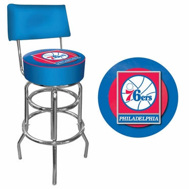 Philadelphia 76ers Padded Bar Stool with Back