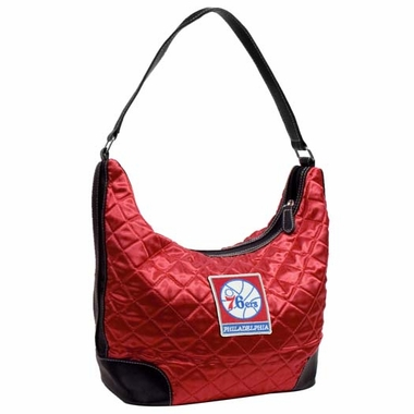 Philadelphia 76ers Quilted Hobo Purse
