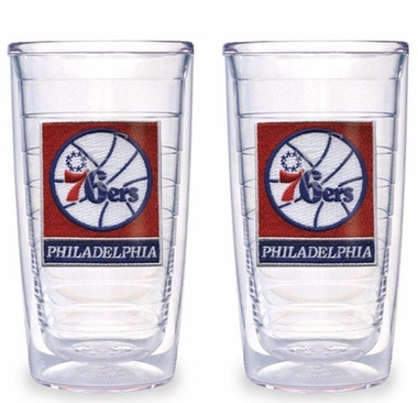 Philadelphia 76ers Set of TWO 16 oz. Tervis Tumblers